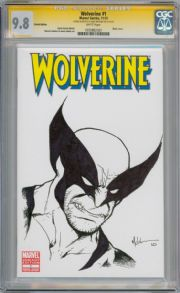 Wolverine #1 CGC 9.8  Signature Series Signed Mike McKone Sketch Marvel Movie